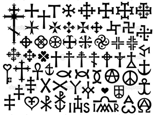 crosses and christian monograms